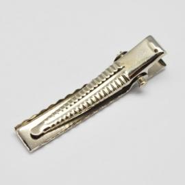 10 stuks krokodilknijpers 46mm zilverkleur