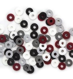 460503/2808- ca. 100 stuks katsuki kralen spacers 6mm grijs/bruin mix