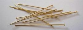 CE430700/4503- 100 stuks nietstiften 45mm goudkleur