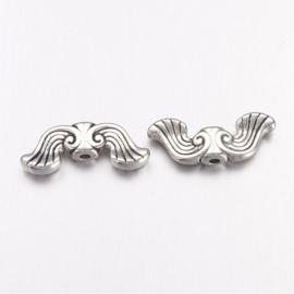 C346- 10 stuks metalen kralen vleugels 19x8mm