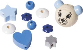 6023634- houten kralenmix teddy