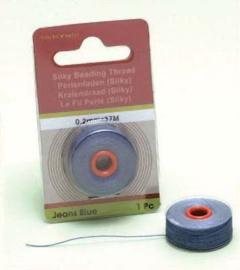 TH12050- 37 meter Silky draad van 0.2mm dik blauw