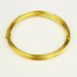 6 meter aluminiumdraad 2mm goud