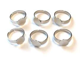 TH118081559- 6 stuks ringen met tray van 10mm