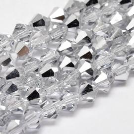 C124- 118 stuks AA-kwaliteit imitatie Swarovski crystal kralen 4mm silver