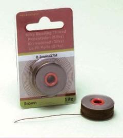 TH12050- 37 meter Silky draad van 0.2mm dik bruin