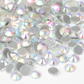 288 stuks hotfix strass steentjes SS30 6.4mm crystal AB - AA-kwaliteit