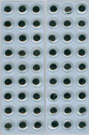 CE802603/1934- 54 stuks zelfklevende wiebeloogjes van 12mm