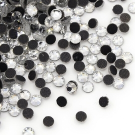 1440 stuks hotfix strass steentjes SS6 2mm crystal zilver - AA-kwaliteit