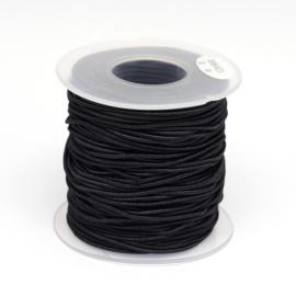 50 meter waxkoord 0.8mm dik zwart