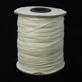 5 meter nylonkoord knoopkoord van 1.5mm dik wit