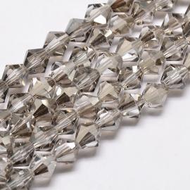 C120- 118 stuks AA-kwaliteit imitatie Swarovski crystal kralen 4mm light grey