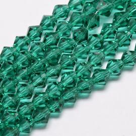 C289- 118 stuks AA-kwaliteit imitatie Swarovski crystal kralen 4mm dark cyan