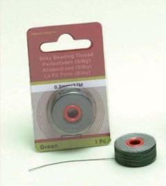 TH12050- 37 meter Silky draad van 0.2mm dik groen