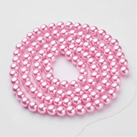 C169- 50 stuks glasparels 8mm pink
