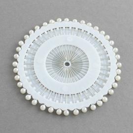 40 stuks parel kopspelden van 38mm met kop van 4mm wit