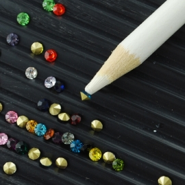 strass pick up potlood van 17.5cm lang en 7mm breed - A-kwaliteit!