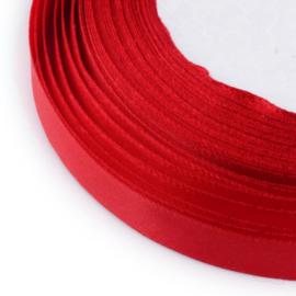 rol met 22.86 meter satijnlint van 6mm breed rood - super aanbieding!