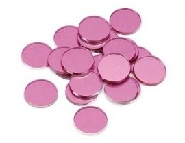 8022074- 48 stuks spiegeltjes van 1.8cm roze