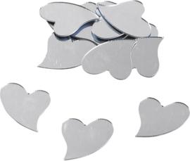 KN8002561- 12 stuks deco spiegeltjes hart 3cm