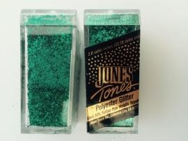 glitter fijn aqua in potje van 6x2.7cm