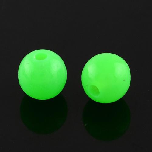 C62- ca. 100 stuks kunststof kralen 6mm neon green
