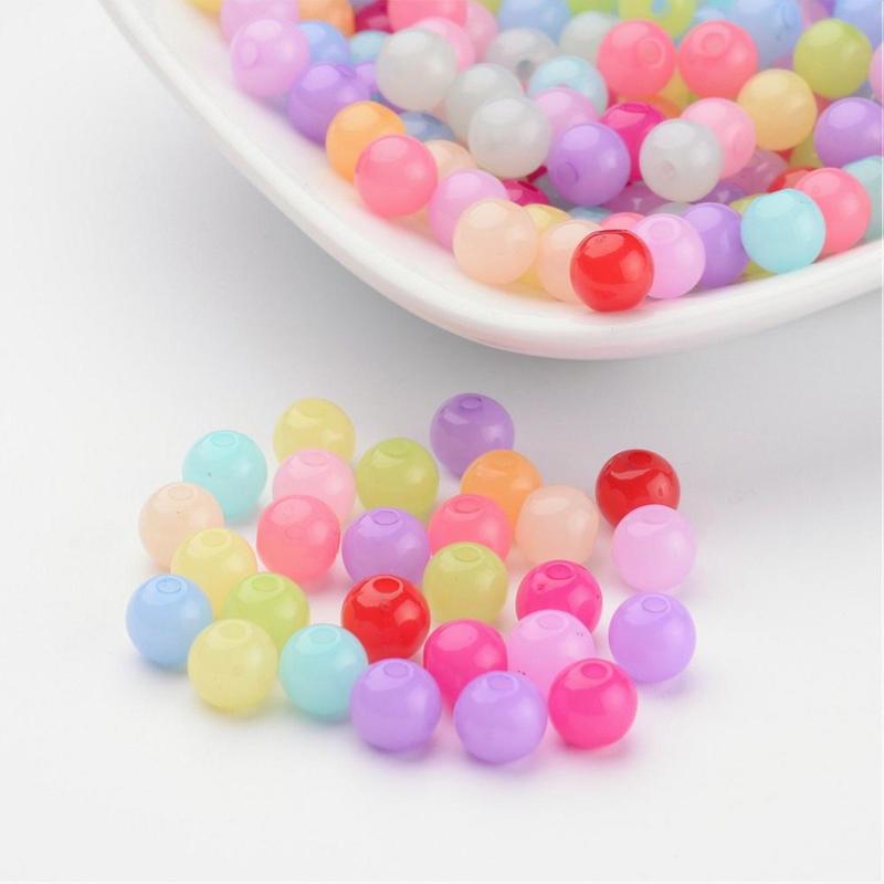 C35- 100 stuks acrylkralen jellymix 6mm