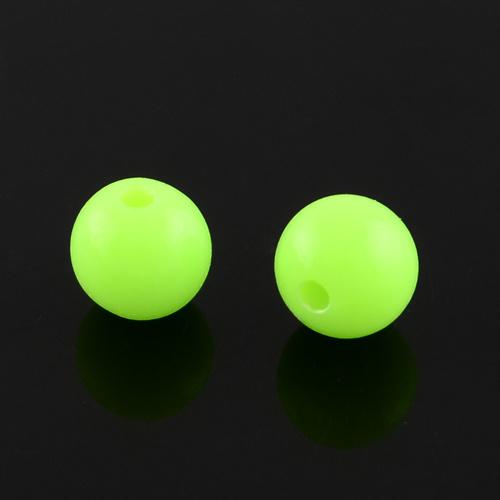 C66- ca. 100 stuks kunststof kralen 6mm lime green