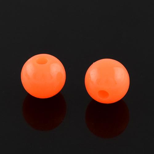 C18- ca. 100 stuks kunststof kralen 6mm orange