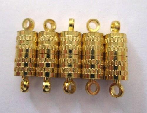 450901/0922- 5 stuks magneet sluitingen ton 8mm goudkleur