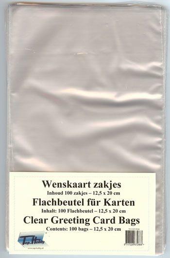 THWZ110- 100 plastic zakjes met kleefstrip 125x180mm