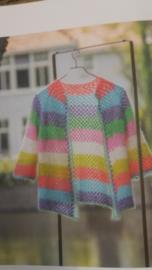 Gekleurd gestreept vestje