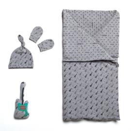 Katia Fabrics - Slaapzak, muts en wanten