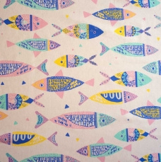 Colour fishes canvas