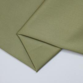 Organic cotton stretch twill, olive green