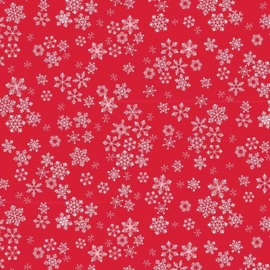 Frosty - Snowflakes red