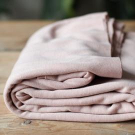 Fine rib jersey powder pink