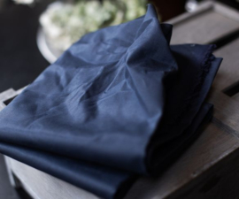 Waxed cotton - donkerblauw