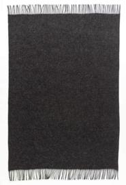 Álafoss donkergrijze wollen deken  (2000)