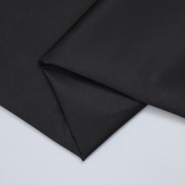 Organic cotton stretch twill, zwart