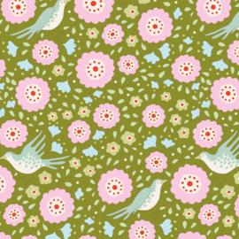 Bird Pond  Lovebirds Green