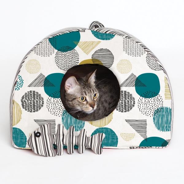 Katia Fabrics - Huisje voor kat en visgraat