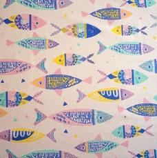 Colour fishes canvas