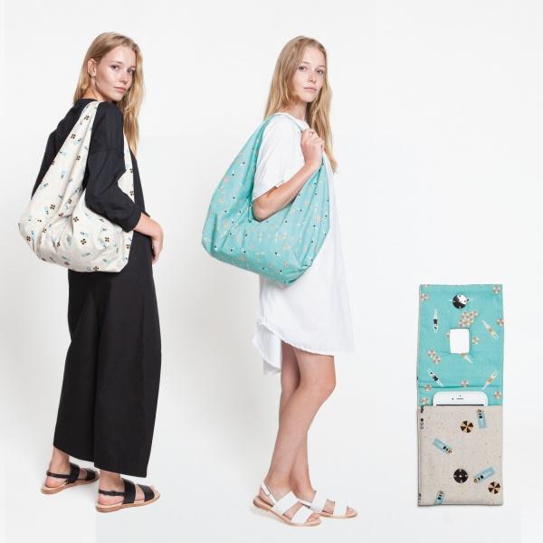 Katia Fabrics - Driehoekige tas en hoes mobiele telefoon oplader
