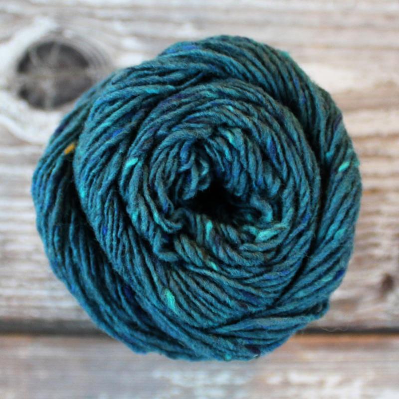 Donegal Tweed - kleur 88 petrol