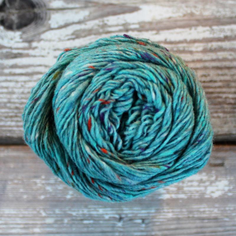 Donegal Tweed - kleur 172 blauw groen