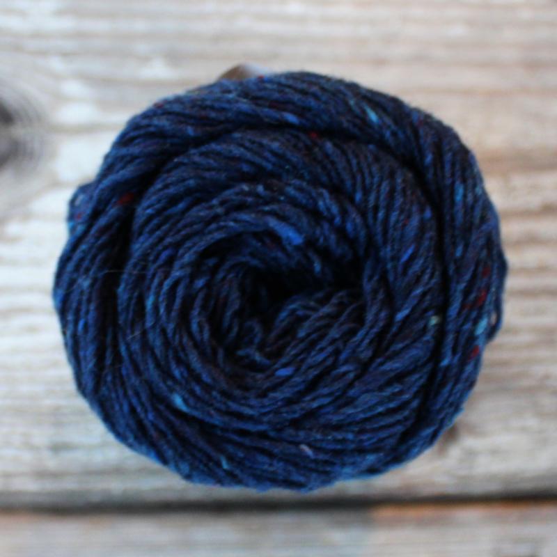 Donegal Tweed - kleur 34 denim blauw