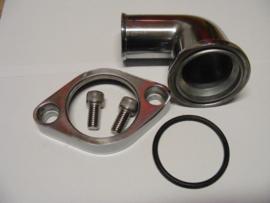 GM/ Chevrolet  90° Aluminum Swivel Water Neck Polished
