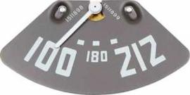 Temperatuur meter. 1950-53   Witte naald