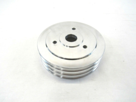 Aluminum BBC Chevy 396-454 SWP Crank Pulley 3 Groove Polished